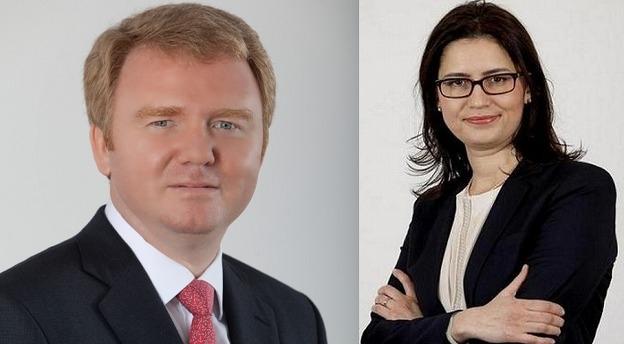 Ioana Mihai (dreapta) va coordona echipa de corporate finance din cadrul departamentului EY România de asistență în tranzacții condus de Florin Vasilică (stânga). Sursă foto: EY. Montaj foto: MIRSANU.RO.