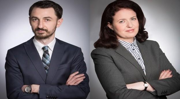 Paul Buta (stânga) și Angela Mare sunt noii parteneri cooptați în conducerea Mușat & Asociații. Sursă foto: Mușat & Asociații. Prelucrare jurnalul de tranzacții MIRSANU.RO.