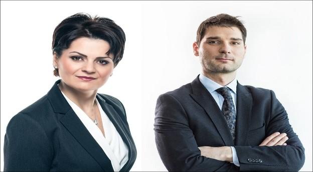 Adina Jivan (stânga) și Emeric Domokos - Hancu au fost numiți parteneri locali în cadrul Schoenherr de la 1 februarie. Sursă foto: Schoenherr. Prelucrare: Jurnalul de tranzacții MIRSANU.RO.