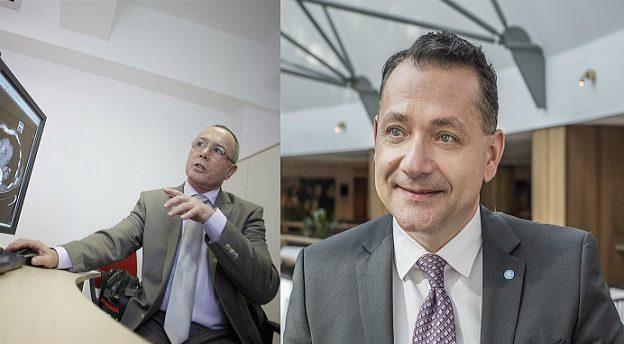 Octavian Lebovici, CEO Hiperdia (stânga) și Radu Gorduza, CEO Affidea România (dreapta). Sursă foto: Affidea.
