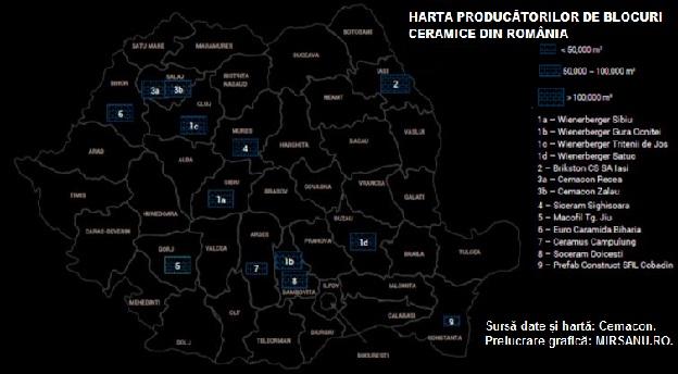 Harta fabrici blocuri ceramice Romania main