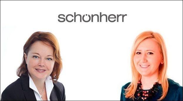 Eva Hegedues-Brown (stânga) și Georgiana Bădescu (dreapta) sunt noii parteneri ai biroului Schoenherr din București de la 1 februarie. Sursă foto: Schoenherr. Prelucrare grafică: MIRSANU.RO.